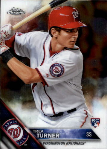 Photo of 2016 Topps Chrome #32 Trea Turner Rookie Card -- Nationals post-season