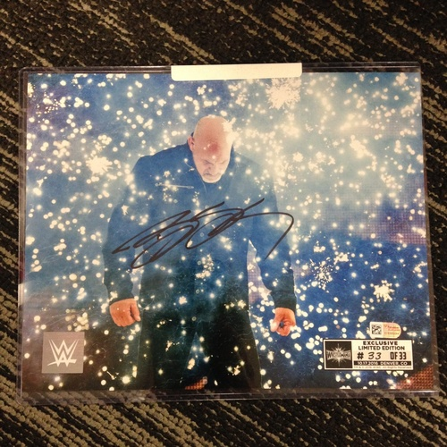 Photo of Goldberg SIGNED 8 x 10 Limited Edition WrestleMania 33 Photo (#33 of 33)