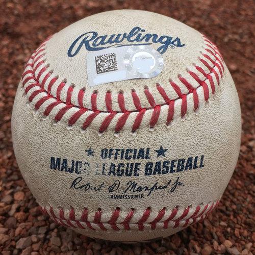 San Francisco Giants - Game-Used Baseball - Ryder Jones triple off Matt Bowman on 8/31/17