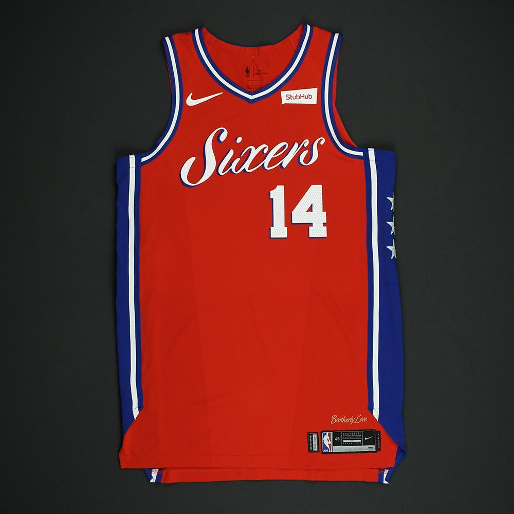 James Michael McAdoo - Philadelphia 76ers - NBA Christmas Day '17 'Statement' Game-Worn Jersey - Dressed, Did Not Play