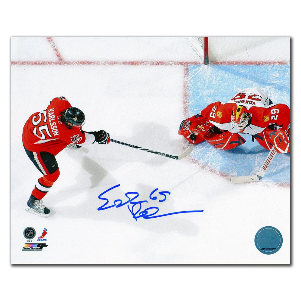 Erik Karlsson Ottawa Senators Overhead Autographed 8x10