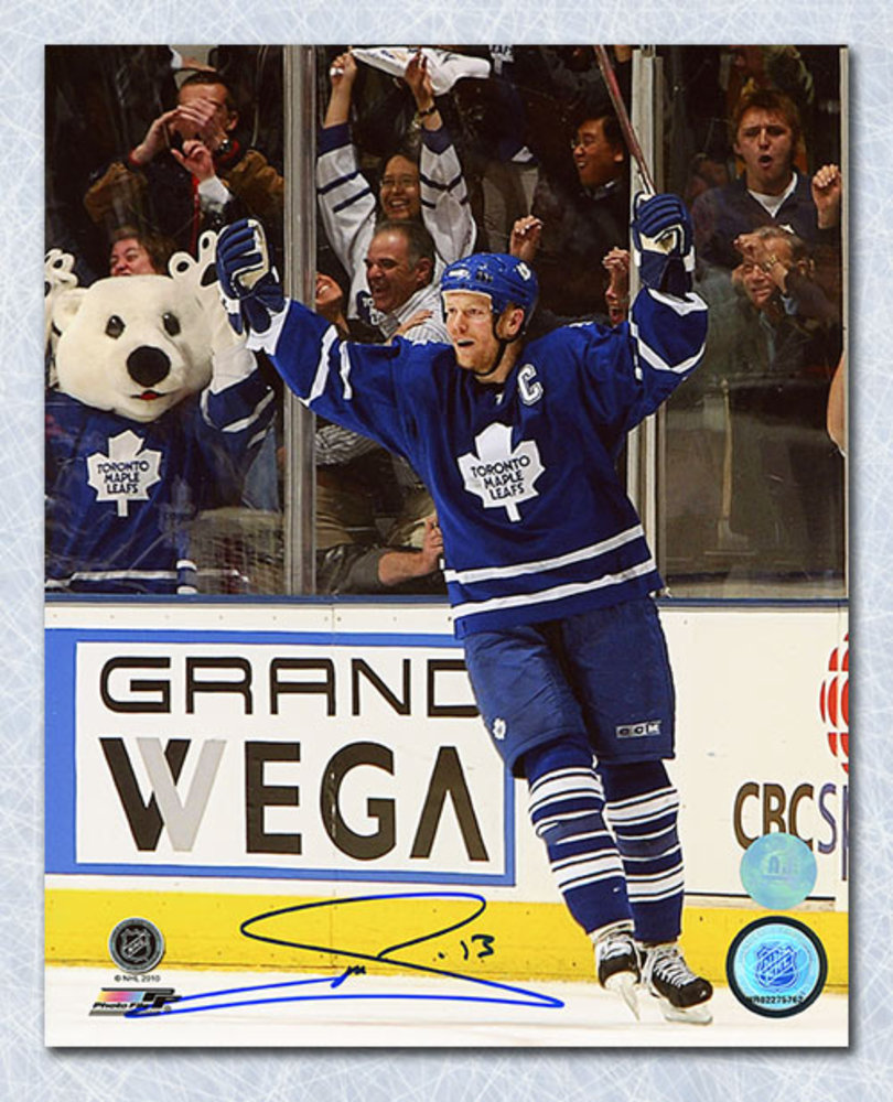 Mats Sundin Toronto Maple Leafs Autographed Celebration 8x10 Photo