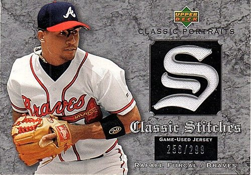 Photo of 2003 Upper Deck Classic Portraits Stitches #RF Rafael Furcal Jersey 256/299