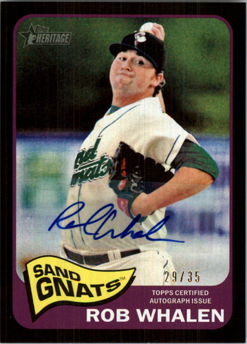 Photo of 2014 Topps Heritage Minors Real One Autographs Black #ROARW Rob Whalen