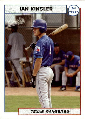 Photo of 2005 Bazooka #196 Ian Kinsler FY RC