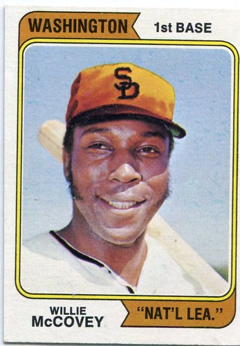 Photo of 1974 Topps #250B Willie McCovey Washington variation