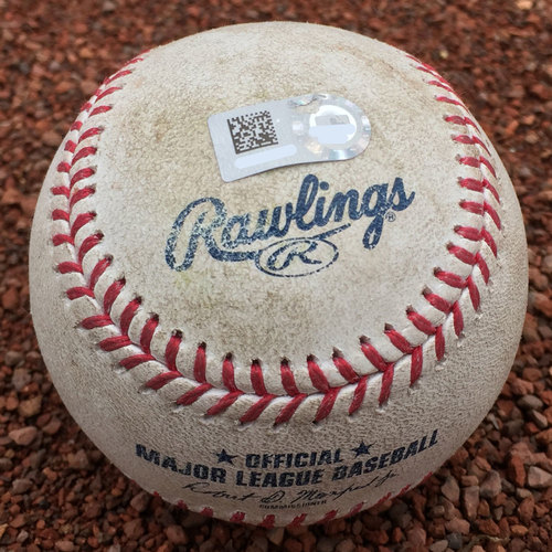 San Francisco Giants - Game-Used Baseball - Kyle Crick strikeout of Jabari Blash on 7/20/17 (97.1 MPH fastball)