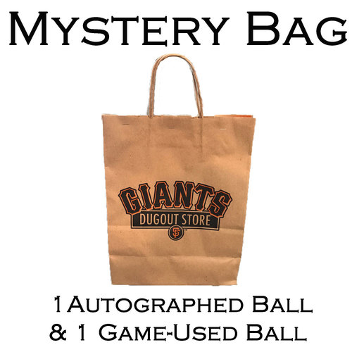 San Francisco Giants - Mystery Bag - 2 Baseballs - 1 Autographed and 1 Game-Used