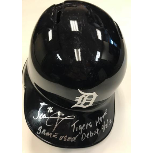 Photo of Autographed Game-Used Jeimer Candelario Home Helmet