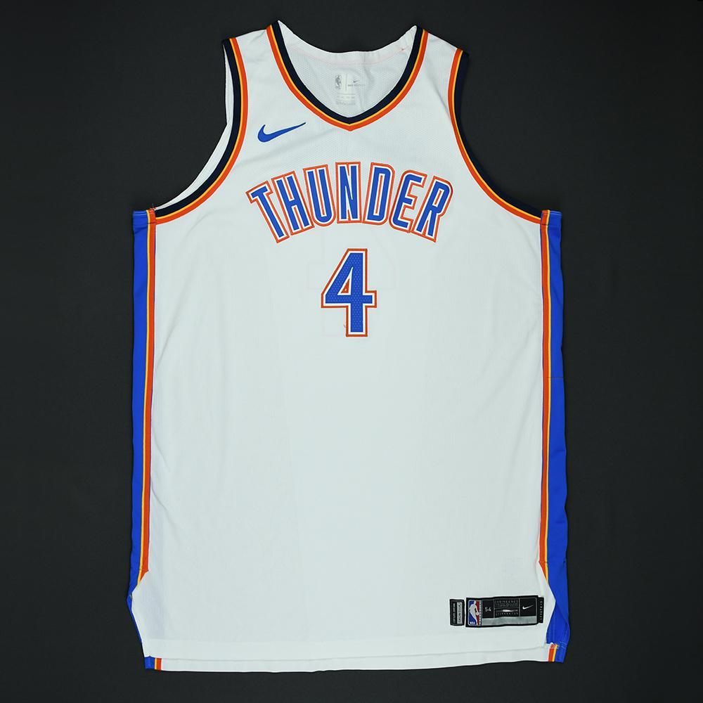 Nick Collison - Oklahoma City Thunder - 2018 NBA Playoffs Game-Worn Jersey - Dressed, Did Not Play