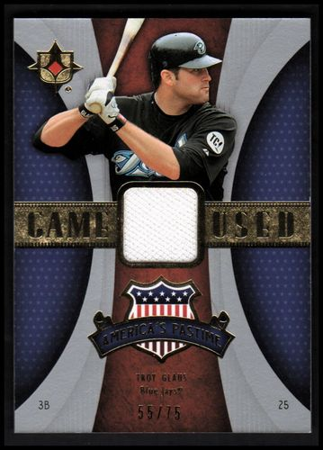 Photo of 2007 Ultimate Collection America's Pastime Memorabilia #TG Troy Glaus/75