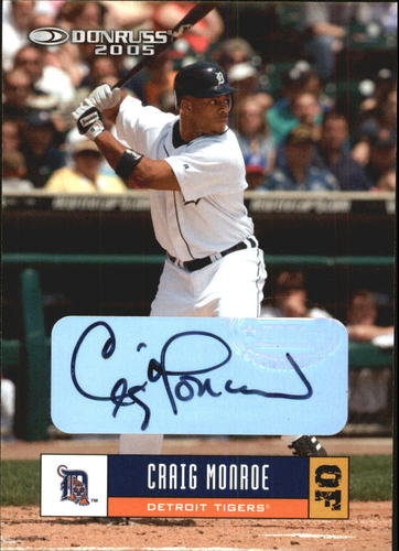 Photo of 2005 Donruss Autographs #181 Craig Monroe
