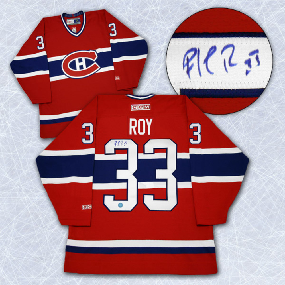 Patrick Roy Montreal Canadiens Autographed Retro CCM Hockey Jersey