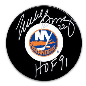 Mike Bossy New York Islanders HOF Autographed Puck