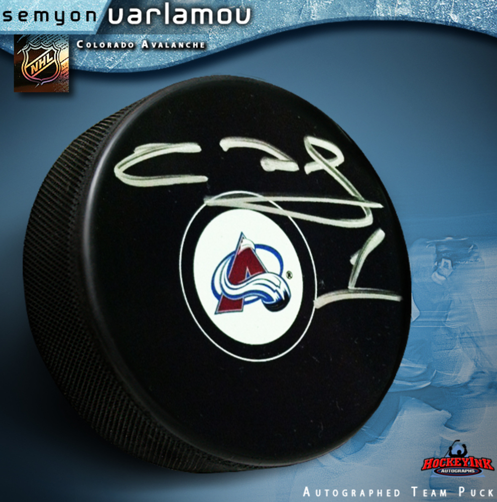 SEMYON VARLAMOV Signed Colorado Avalanche Puck
