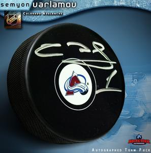 SEMYON VARLAMOV Signed Colorado Avalanche Puck