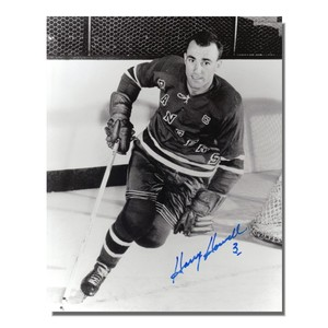 Harry Howell Autographed New York Rangers 8x10 Photo