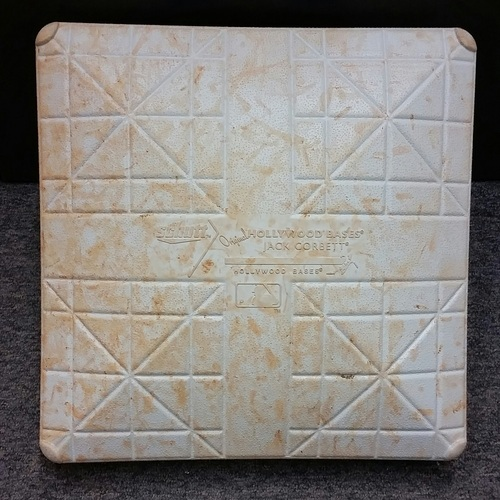 Photo of Authenticated Game Used 1st Base from May 19, 2015 vs L.A. Angels - Used Innings 6-9