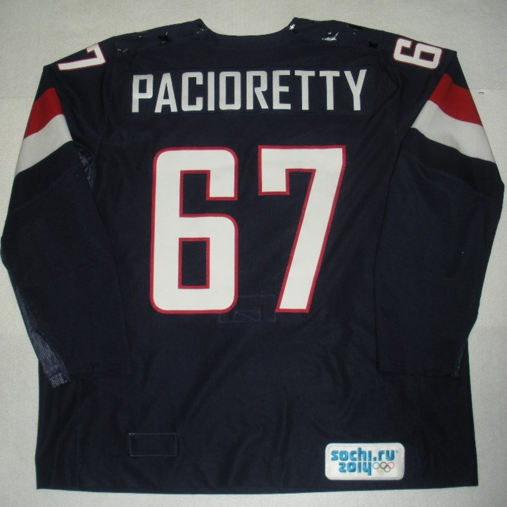 Max Pacioretty - Sochi 2014 - Winter Olympic Games - Team USA Blue Game-Worn Jersey - Bronze Medal Game vs. Finland, 2/22/14