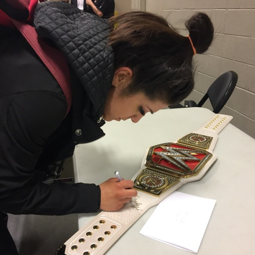 Bayley SIGNED WWE RAW Women's Championship Replica Title (RAW - 02/13/17)