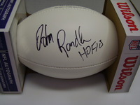 HOF - VIKINGS JOHN RANDLE SIGNED PANEL BALL