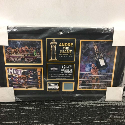 "Photo of Cesaro ""Andre The Giant Memorial Battle Royal"" Signed Commemorative Plaque (#1 of 400)"