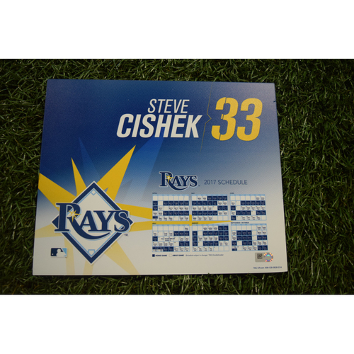 2017 Team-Issued Locker Tag - Steve Cishek