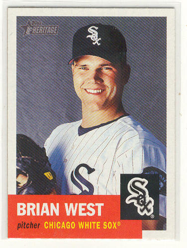 Photo of 2002 Topps Heritage #440 Brian West SP RC