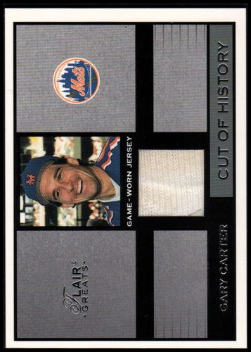Photo of 2003 Flair Greats Cut of History Game Used #6 Gary Carter Jsy