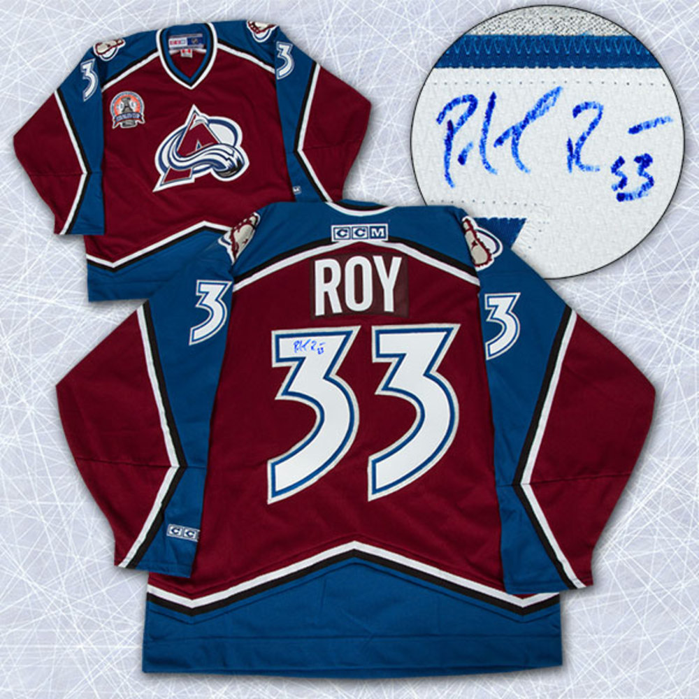 Patrick Roy Colorado Avalanche Autographed 2001 Stanley Cup Retro CCM Jersey