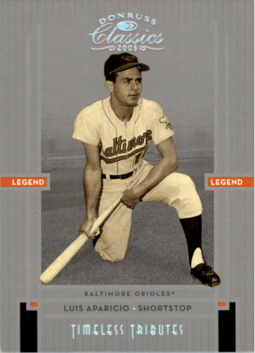 Photo of 2005 Donruss Classics Timeless Tributes Silver #239 Luis Aparicio LGD