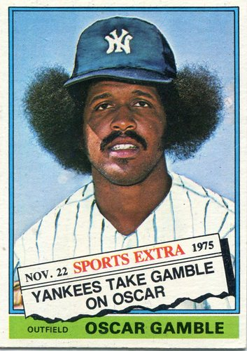 Photo of 1976 Topps Traded #74T Oscar Gamble -- One of the hobby's most iconic cards