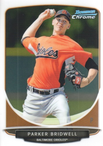 Photo of 2013 Bowman Chrome Prospects #BCP162 Parker Bridwell