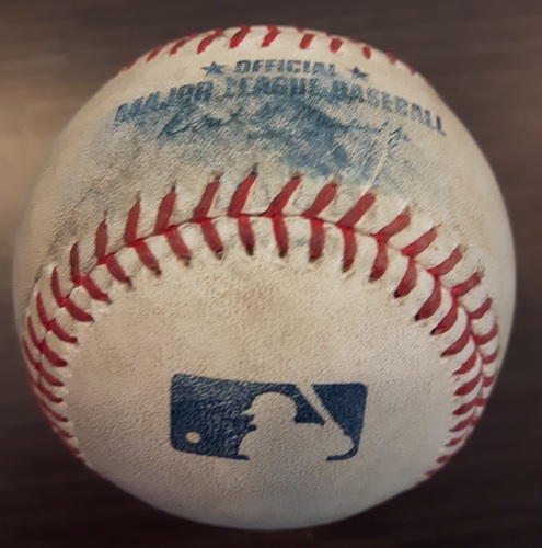Photo of Authenticated Game Used Baseball - Marcus Stroman Strikeout on July 8, 2017 (Top 5 vs Alex Bregman)