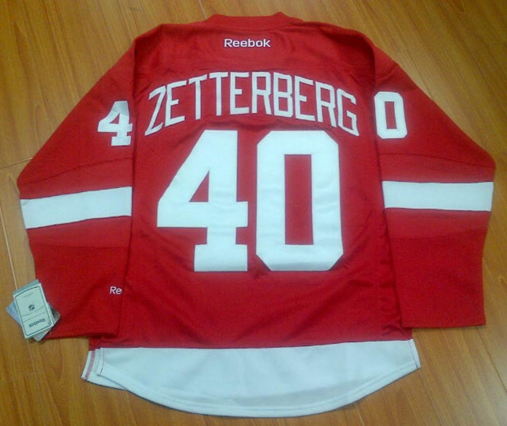 HENRIK ZETTERBERG Detroit Red Wings RBK Premier Jersey *Size L*