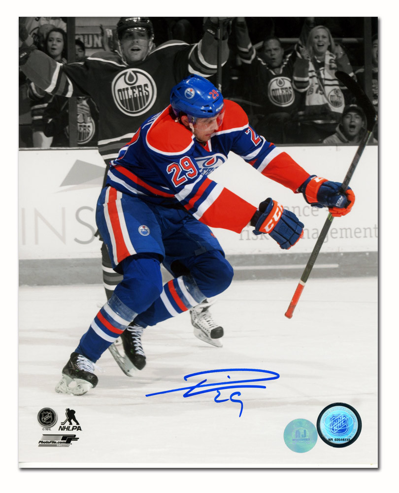 Leon Draisaitl Edmonton Oilers Autographed First Goal Spotlight 8x10 Photo