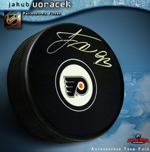 JAKUB VORACEK Signed Philadelphia Flyers Puck