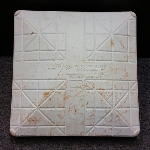 Photo of Authenticated Game Used 3rd Base from Sept 21, 2015 vs New York Yankees - Used innings 1-5