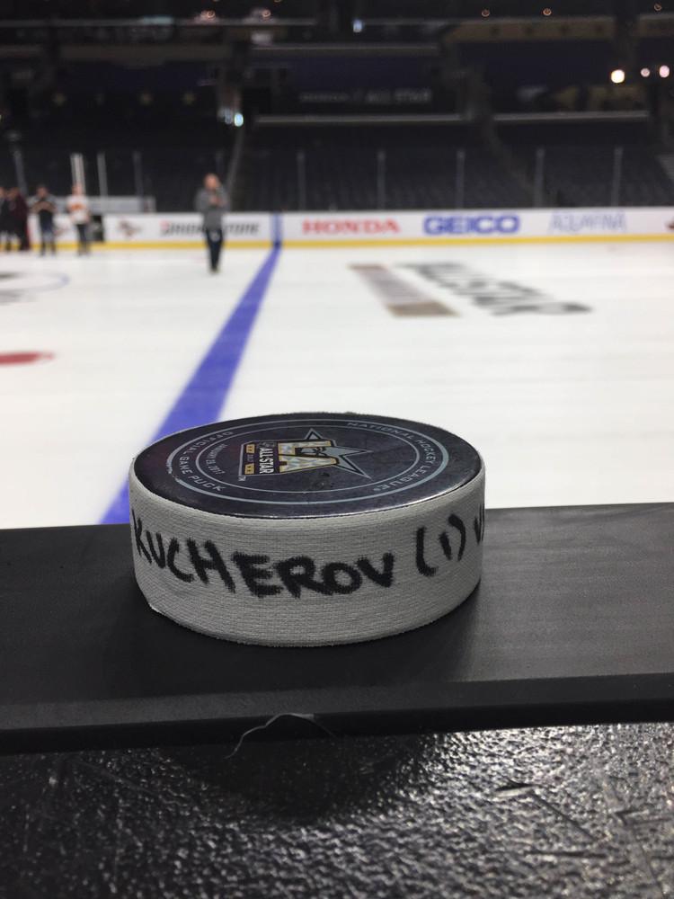 Nikita Kucherov Tampa Bay Lightning 2017 NHL All-Star Game Goal-Puck, 1st Career NHL ASG Goal