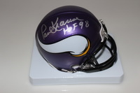HOF - VIKINGS PAUL KRAUSE SIGNED VIKINGS MINI HELMET