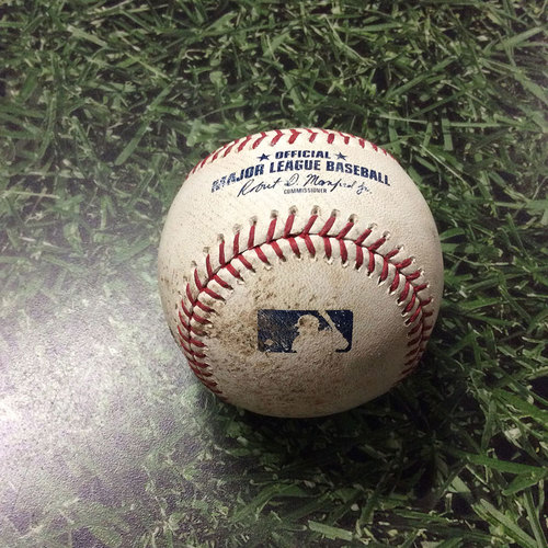 Photo of Game-Used Baseball 08/12/17 CIN@MIL - Josh Hader to Billy Hamilton: Bunt Foul, Strikeout