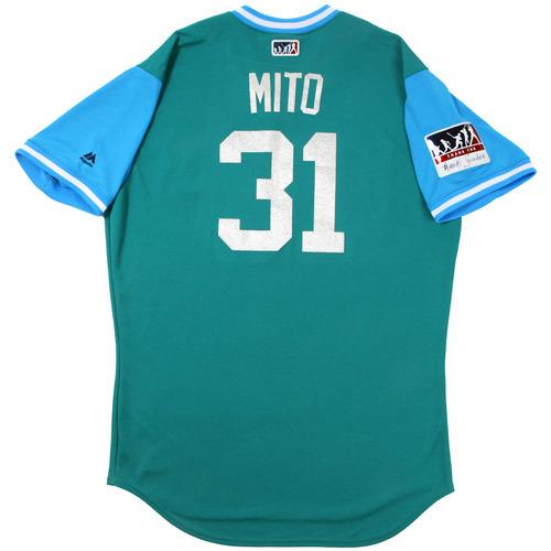 "Photo of Erasmo ""Mito"" Ramirez Seattle Mariners Game-Used Players Weekend Jersey"