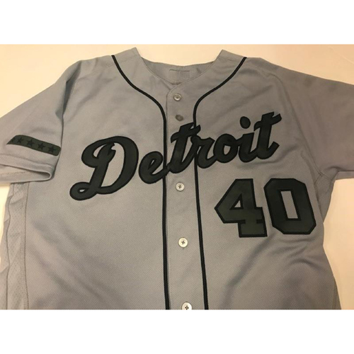 Photo of Game-Used JaCoby Jones Memorial Day Jersey