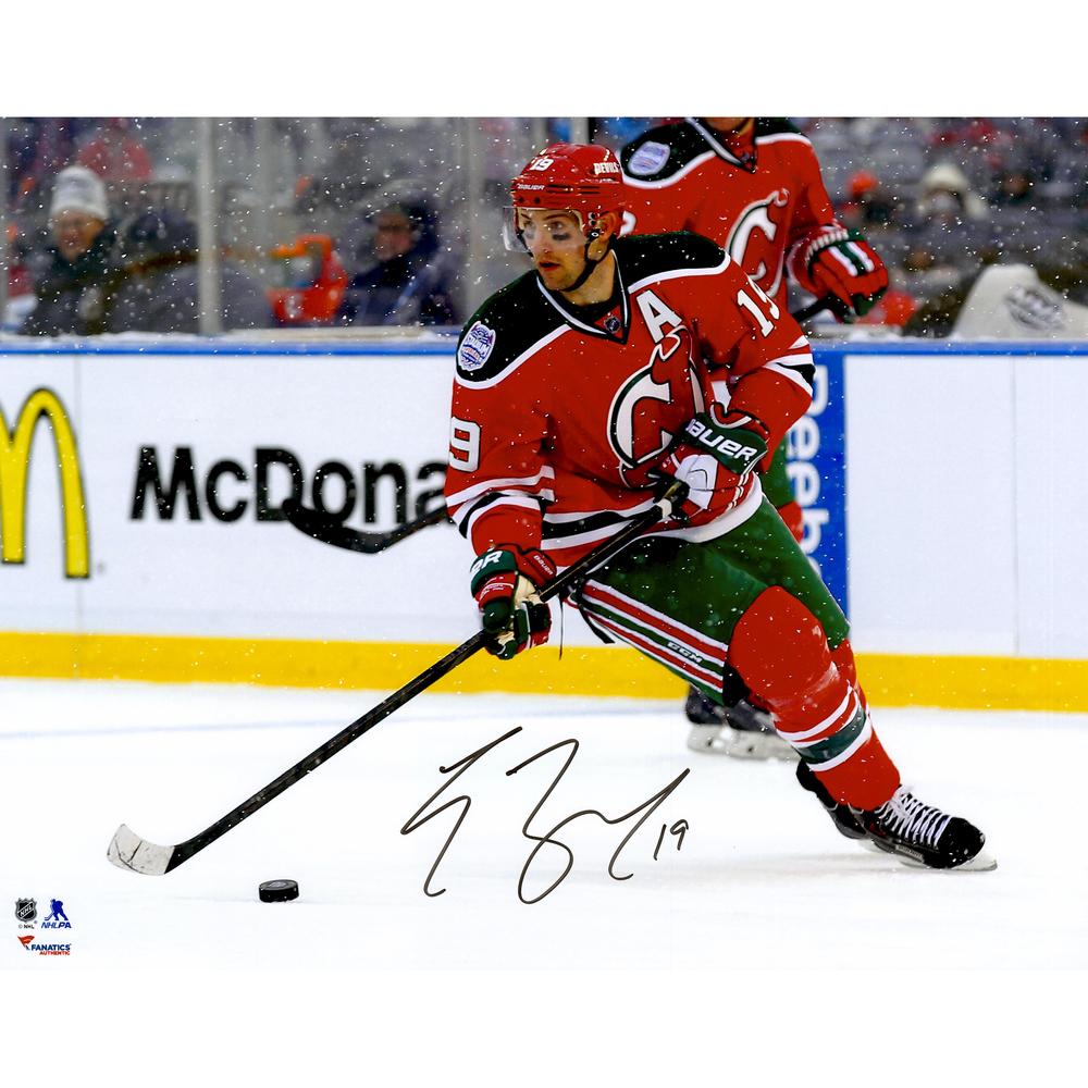 Travis Zajac New Jersey Devils Autographed Stadium Series 16