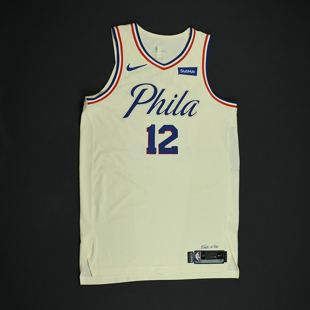 T.J. McConnell - Philadelphia 76ers - Game-Worn 'City' Jersey - 2017-18 Season