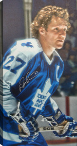 Darryl Sittler - Signed 14x28 Toronto Maple Leafs Canvas
