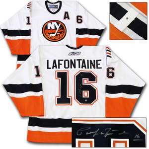 Pat LaFontaine Autographed New York Islanders Authentic Pro Jersey