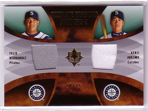 Photo of 2007 Ultimate Collection Ultimate Ensemble Dual Swatches #HJ Felix Hernandez/Kenji Johjima/75