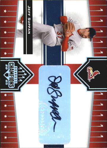 Photo of 2005 Donruss Champions Impressions Autograph #377 Jeff Suppan T4