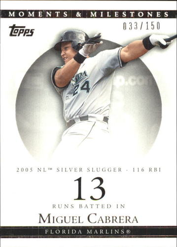 Photo of 2007 Topps Moments and Milestones #110-13 Miguel Cabrera/RBI 13